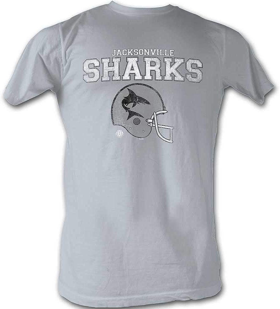 WFL T-Shirt Jacksonville Sharks Helmet Silver Tee