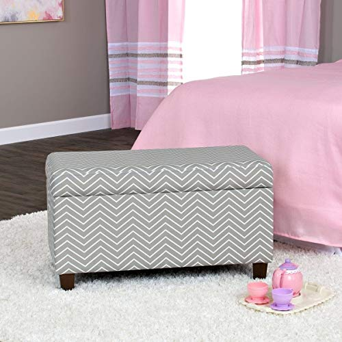 HomePop K6407-A795 Youth Upholstered Storage Bench with Hing