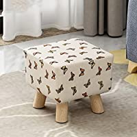 [child] [rural] Space saving Changing shoes stool [compression] Sponge Round stool Tea table Shoes stool-Square - Butterfly - Small 292927cm