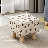 Changing Table with Hutch [Child] [Rural] Space Saving Changing Shoes Stool [Compression] Sponge Round Stool Tea Table Shoes Stool-Square - Butterfly - Small 292927cm