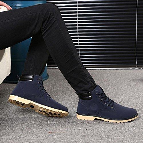 Mode LHWY Herbst Blau und Stiefel Herren Stiefel männliche Martin rutschfeste shoes Winter warm Sport xw0RZBFwq