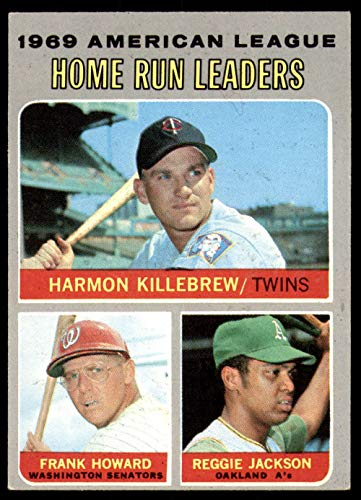 1970 Topps #66 Harmon Killebrew/Frank Howard/Reggie Jackson A.L. Home Run Leaders Ex-Mint