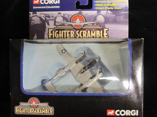 P-38 Lightning Pacific Fighter (Little Eva) Corgi Scramble Series with Display Stand