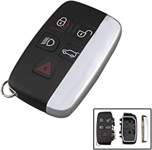 WFMJ for Jaguar XF XJ XJL XE Land Rover Range Rover Sport LR2 LR4 Evoque Keyless Entry 5 Buttons Remote Key Case Shell Fob