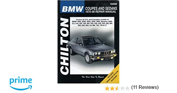 Bmw coupes and sedans 1970 88 chilton total car care series bmw coupes and sedans 1970 88 chilton total car care series manuals chilton 9780801987892 amazon books fandeluxe Choice Image