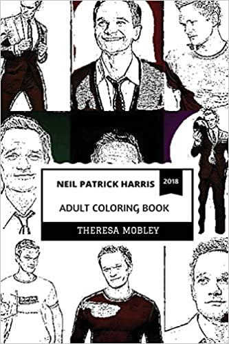 Neil Patrick Harris Adult Coloring Book Barney Stinson From How I