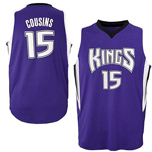 Mens DeMarcus Cousins #15 Sacramento Kings Purple Swingman Basketball Jersey M - Sacramento Kings Jersey