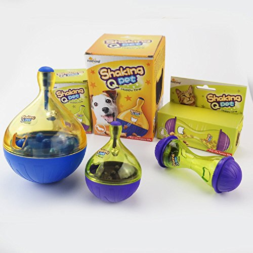 XJoel Busy Buddy Magic Dumbbell Dog Toy Kitty Teeter Feeder Cat Treat and Food Dispenser (Treat Pickle compare prices)