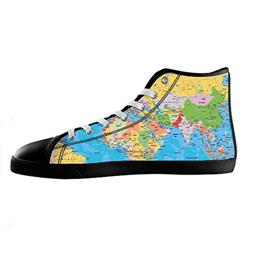 Custom Mappa del mondo Mens Canvas shoes I lacci delle scarpe in Alto sopra le scarpe da ginnastica di scarpe scarpe di Tela. Aclaramiento De Elegir Un Mejor Remoción De Nuevos Estilos Espacio Libre En Línea Barata Falsa Línea Barata Para El Precio Barato 5XqyNK