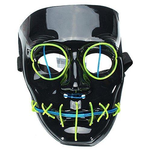 Mascara careto para disfraz de luces neon led