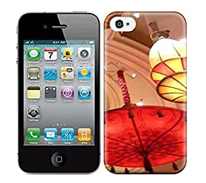 Best Power(Tm) HD Colorful Painted Watercolor Lamps & Lights & Lighting Parasol Lights Hard Phone Case For Iphone 4/4S