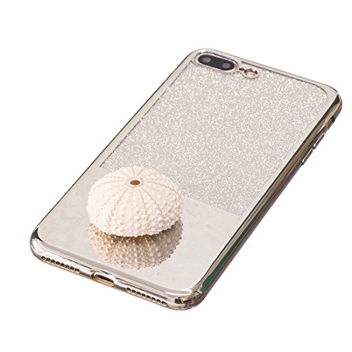 MXNET IPhone 7 Plus Fall, galvanisierender Spiegel TPU schützender rückseitiger Abdeckungs-Fall CASE FÜR IPHONE 7 PLUS ( Color : Silver )