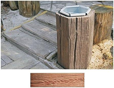Cesta Oscuro - madera-efecto concreto decorativo losa de adoquines para jardín y patio: Amazon.es: Bricolaje y herramientas
