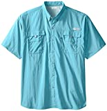 Columbia Men's PFG Bahama II Short Sleeve Shirt - Big , Coastal Blue, 5X