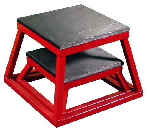 Ader Plyometric Platform Box Set- 6'' & 12'' RED by Ader Sporting Goods