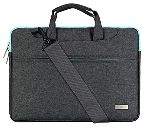 Mosiso Laptop Shoulder Bag for 11-11.6 Inch MacBook Air, Ultrabook Polyester Briefcase Sleeve Case Cover Handbag with Back Belt for Trolly Case, - Hp Belt Case