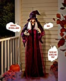 "71"" Life Size Hanging Animated Talking Witch Halloween Haunted House Prop Decor"