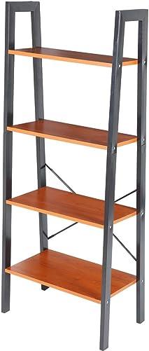 POCREATION 4-Tier Ladder Shelf Bookcase