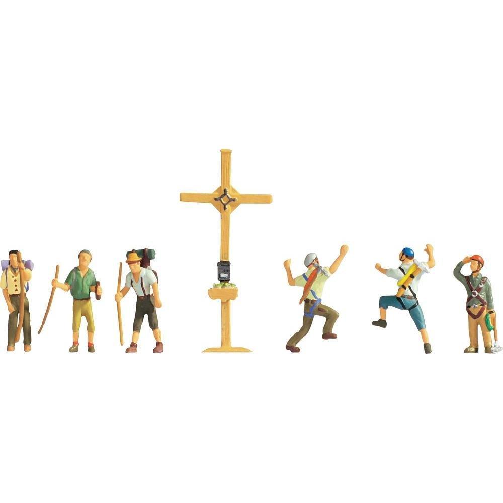 Noch 36874 Mountain Hikers W/Cross N Scale  Figures