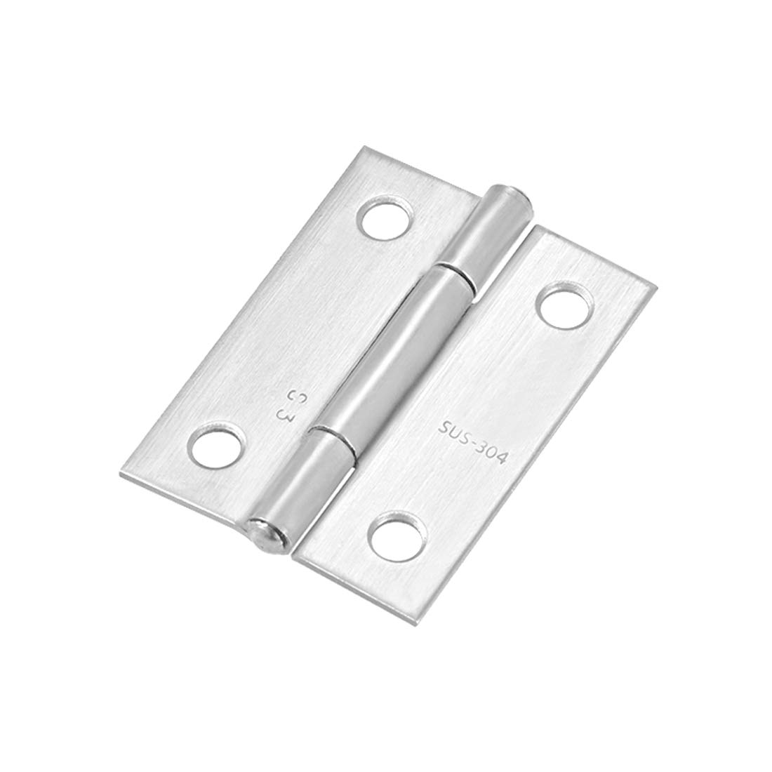 uxcell 1.97inch Hinge Silver Door Cabinet Hinges Fittings Brushed Chrome Plain 12pcs
