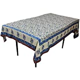 Gifts for Parents Day!! Multicolor Floral Rectangular Tablecloth in Cotton Fabric Indian Home Decor 90 x 60 Inches