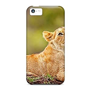 linJUN FENGAwesome Young Lion Hugging Tree Flip Case With Fashion Design For iphone 4/4s