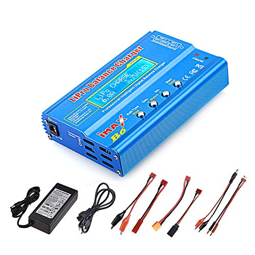 (Haitlink iMAX B6 80W 6A Lipo Battery Balance Charger Discharger for LiPo/Li-ion/Life/LiHV Battery (1-6S), NiMH/NiCd (1-15S), Rc Hobby Battery Balance Charger LED W/AC Power Adapter)