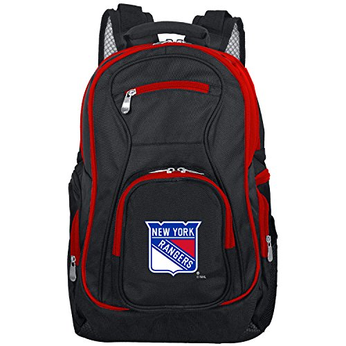 NHL New York Rangers Colored Trim Premium Laptop Backpack