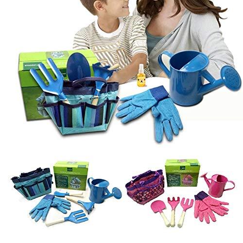 Fragil Tox Gardening Tool Set Little Gardener Tool Set with Bag Kids Children Gardening Boys Girls Gift Toys JUL31_40 Multi Medium Medium