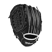 "Wilson A360 Baseball Glove, 11"", Black/Gold, Left Hand"