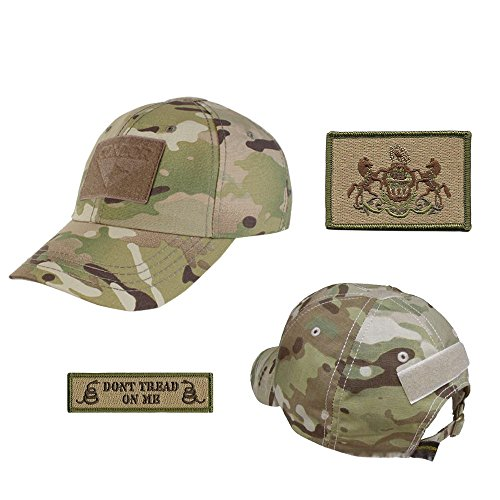US State Operator Cap Bundle - With State & Dont Tread On Me Patches - Pennsylvania