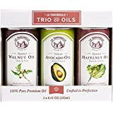 La Tourangelle, Roasted Walnut, Hazelnut, Avocado Trio of Oils, 25 Ounce