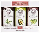 La Tourangelle, Roasted Walnut, Hazelnut, Avocado Trio of Oils, 25 Ounce
