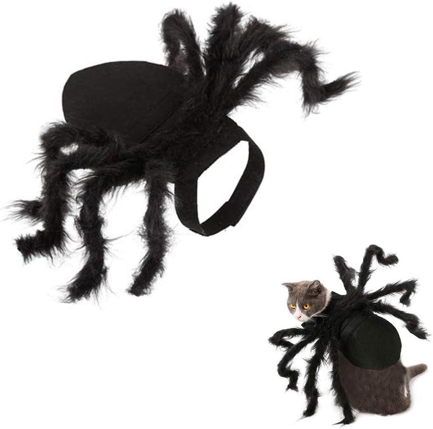 ZPFDM Disfraz de Disfraz de araña para Mascotas, Disfraces de Fiesta de Halloween Decoración del Festival Disfraces de araña de Cosplay Disfraces de Mascotas de Halloween, para Cachorro de Perro Gato