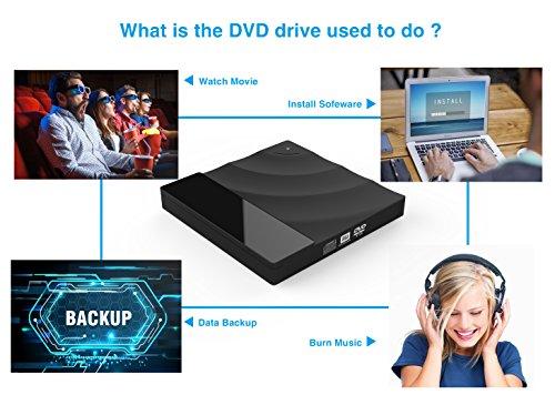 USB 3.0 External DVD Drive,Valoin Touch Control CD-RW DVD Burner Portable DVD Player for Laptop Desktop MacBook Windows XP/Win 7/Win 8/Vista/Linux/Mac OS by Valoin US (Image #3)