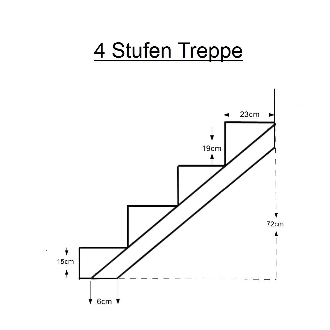 Treppenrahmen 2-10 Stufen-Wahl Stahl-Treppe Schwarz Treppenholm//W/ählen Sie die Stufen-Anzahl 6 stufig