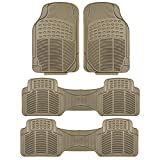 FH Group F11306BEIGE-3ROW Floor Mat (Trimmable Heavy Duty 3 Row SUV All Weather 4pc Full Set - Beige)