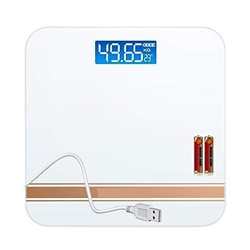 Balanza Electronica Inteligente Báscula de baño Digital de Alta precisión Escala de Peso Corporal Plataforma de Vidrio Templado Inteligente Tecnología de ...
