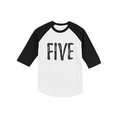 5th Birthday Gift for Five Year Old Child Toddler Raglan 3/4 Sleeve Baseball Tee