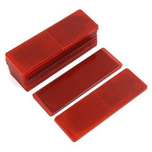 UPC 709874119404, uxcell Automotive Car Red Rectangle Stick-on Safety Reflector Plate w/o Holes 10PCS