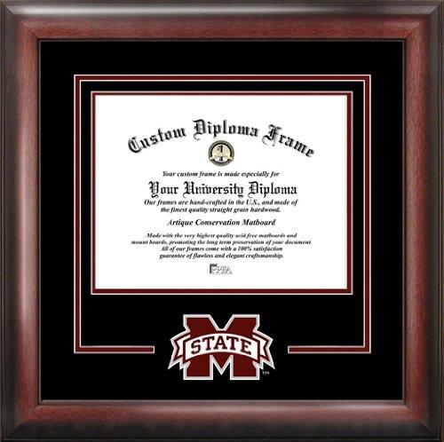 Mississippi State University Bulldogs - College Logo - Spirit Mat Cutout - Diploma Frame (Diploma Frame Spirit State University)