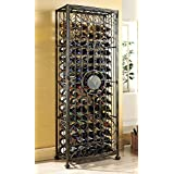 Wine Enthusiast 96 Bottle Antiqued Steel Wine Jail