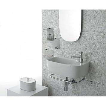 Lavabo Sospeso Ceramica Globo Genesis 50.30 GE047.BI, BiancoOpaco