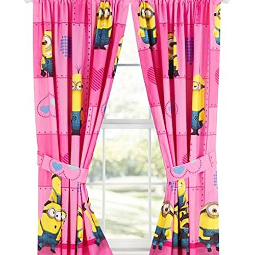 KIDS GIRLS BOYS WINDOW CURTAINS DRAPES-MULTIPLE DISNEY CHARACTERS/TV CHARACTERS (despicable me