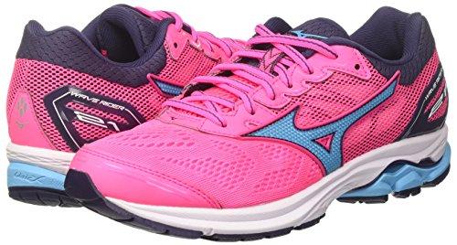Multicolor Mizuno Running Wave para 23 Mujer Aquarius Wos Zapatillas Pinkglo Graystone 21 de Rider fzqrwYf