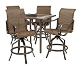 La-Z-Boy Outdoor ROC-5PC WVN Rochester Patio Bar Set