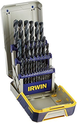 IRWIN Tools 3018004 Black Oxide Metal Index Drill Bit Set, 29pc Pro Case
