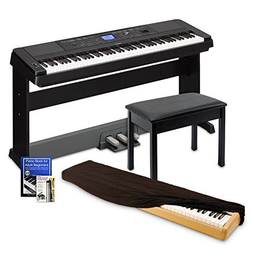 Yamaha DGX660 Digital Piano Education Bundle, Black with Yamaha BB1 Bench and Dust Cover