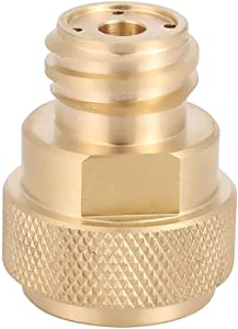LWWL-adapterTank Canister Conversion Brass Refill Adapter C02 Replace Tank Paintball Conversion Adapter Replacements for Sodastream with Wrench Golden
