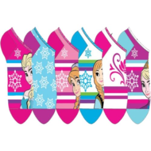 Disney Frozen Snowflake No Show Socks Size 4-6
